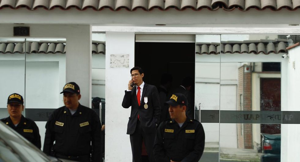 El fiscal Jorge García dirigió operativo (Leandro Britto/GEC).