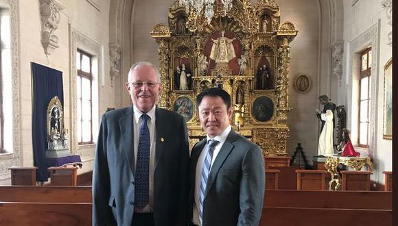 Kenji Fujimori vuelve a mostrar un gesto de acercamiento al presidente Pedro Pablo Kuczynski.