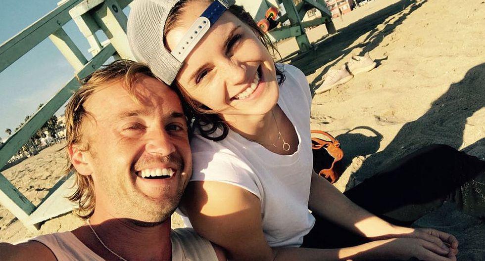 Emma Watson y Tom Felton encienden los rumores de una posible relación con esta fotografía. (Foto: Instagram)