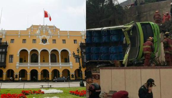 Municipalidad de Lima deslinda responsabilidades en accidente