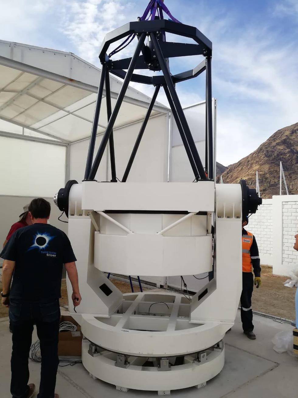 Telescopio fue armado y aún falta su implementación. (Agencia Espacial del Perú -Conida)