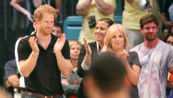 La primera dama de Estados Unidos, Jill Biden, conoció a Enrique de Sussex en 2012.  (Foto: Gregg Newton / AFP)