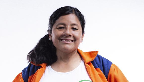 Isabel Cortez es trabajadora municipal de limpieza y postula al Congreso con el Nº 2 de Juntos por el Perú en la lista por Lima. (Difusión)