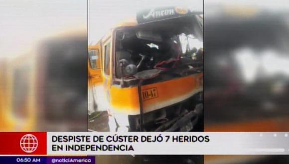 Accidente no dejó víctimas mortales. (Foto: Captura/América Noticias)