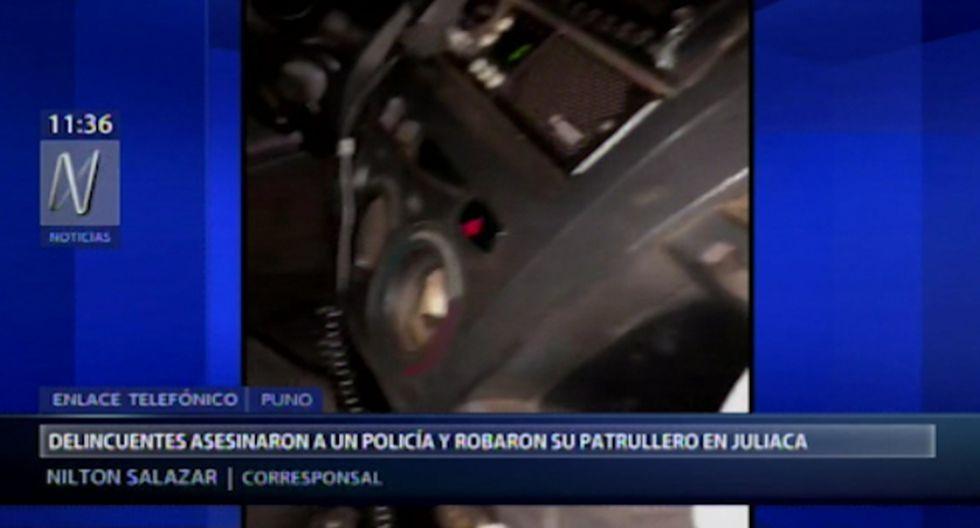 El hecho ocurrió al promediar la 1:10 a.m., en la ciudad de Juliaca (Puno). (Foto captura: Canal N)