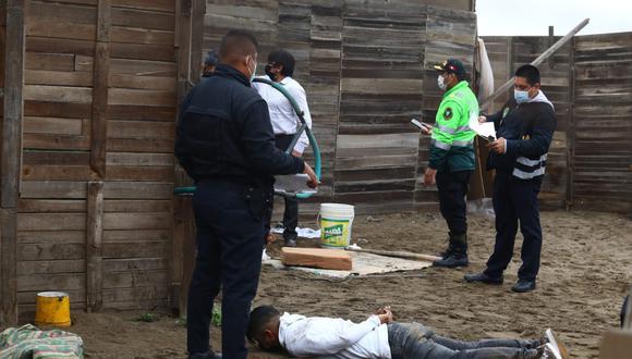 PNP capturó a cinco sujetos armados que serían los autores del asesinato de cinco personas. Foto: Gonzalo Córdova/@photo.gec
