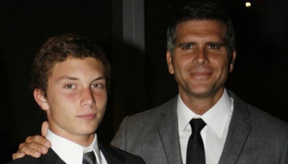 Christian Meier junto a su hijo Stefano Meier. (USI)