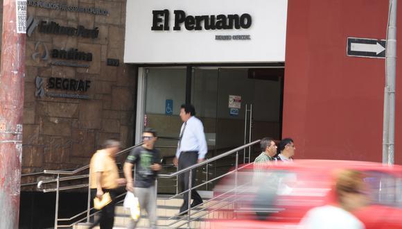 FACHADA DEL DIARIO EL PERUANO, DIARIO OFICIAL DE LA REPÚBLICA DEL PERÚ.