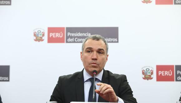 Del Solar le agradeció a Vicente Zeballos por su presentación en la interpelación que le realizó este jueves el Parlamento. (Foto: GEC)