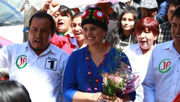Verónika Mendoza buscará su segunda postulación consecutiva a la Presidencia de la República. (Foto: Caleb Mendoza / GEC)