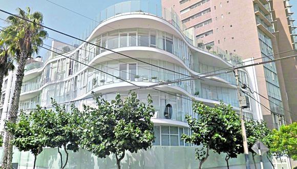 Edificio de la calle Lizardo Alzamora Oeste, 287, en San Isidro.