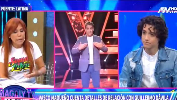 Vasco Madueño se presentó en el programa de Magaly Medina y habló de su relación con Guillermo Dávila. (Foto: Captura de video)