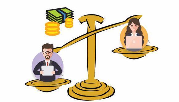 La diferencia de la brecha salarial es considerable entre el sector público y el privado