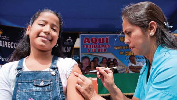 Este viernes empieza vacunación gratuita a escolares contra cáncer de cuello uterino (USI)