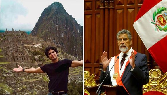 Pedro Suárez-Vértiz espera que Sagasti pueda dar todo de sí en la presidencia. (Foto: Instagram / @pedrosuarezvertiz/ Presidencia).