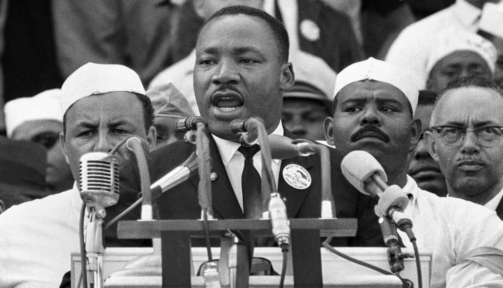 King no era el líder de la marcha. Quien había empujado más y había ideado la manifestación era A. Philip Randolph, un sindicalista que intentaba organizar la protesta desde 1941. King apenas ayudó en los preparativos. (AP)
