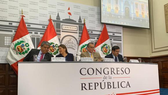 Pedro Olaechea dio una conferencia el último viernes para explicar las medidas adoptadas por la Mesa Directiva de la Comisión Permanente. (Foto: GEC)