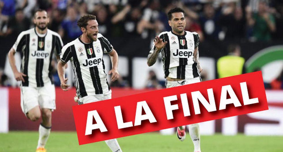 Juventus venció 2-1 al Mónaco por el pase a la final de la Champions League (AFP)