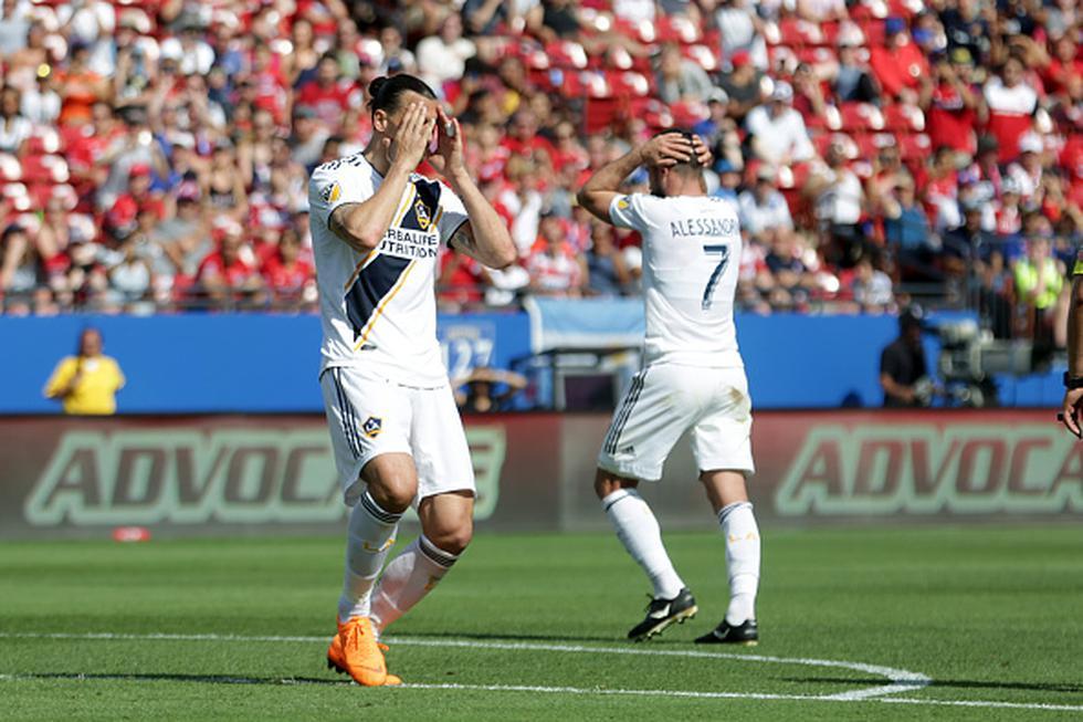 Pese a la ausencia de Ibrahimovic, su equipo logró imponerse al Montreal Impact gracias a la conquista de Ola Kamara. (GETTY IMAGES)