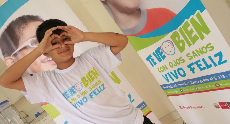 Minsa recomienda que padres deben llevar a sus hijos a centros médicos para descartar algún problema de salud ocular. (Minsa)