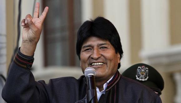 POPULAR. Morales ganó con 53.7% y 64% las elecciones previas. (Reuters)
