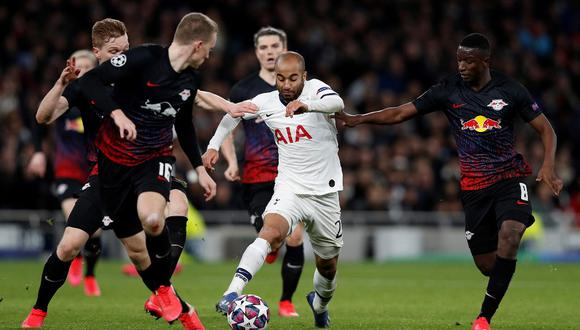 Leipzig se impuso 1-0 a Tottenham en el inicio de la serie. (Foto: AFP)