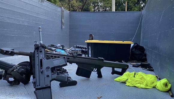 Barret .50, el arma de guerra con la que atentaron contra Omar García Harfuch en México. (Foto:  Fiscalía De Ciudad De México)