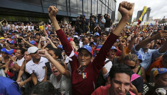 MARCHA OPOSITORA. Colaborador de Henrique Capriles fue detenido por unas horas. (AP)