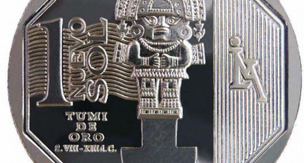 Moneda de S/.1 alusiva al Tumi de Oro. (BCR)