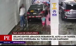 SJM: delincuentes roban auto a taxista que esperaba su turno en un carwash