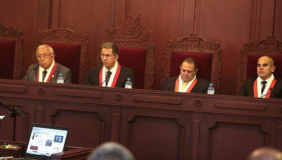 Magistrados del Tribunal Constitucional vieron recurso contra traslado de terroristas. (Martín Pauca)