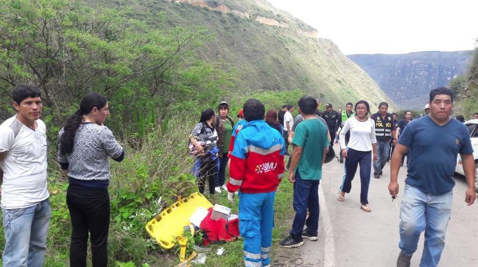 El accidente ocurrió en la vía Rodríguez de Mendoza, en la región Amazonas. (Minsa)