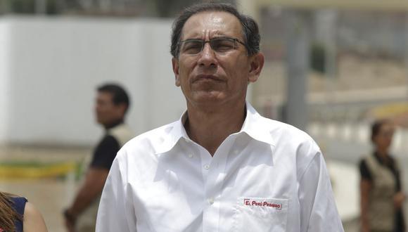 Martín Vizcarra se refirió a la reunión que sostuvo con las fiscales Sandra Castro y Rocío Sánchez. (Foto: Alonso Chero / GEC)