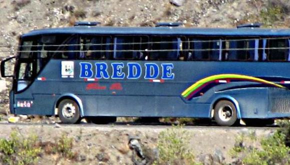 Pasajeros de bus de la empresa Bredde fueron asaltados. (Buses del Perú)