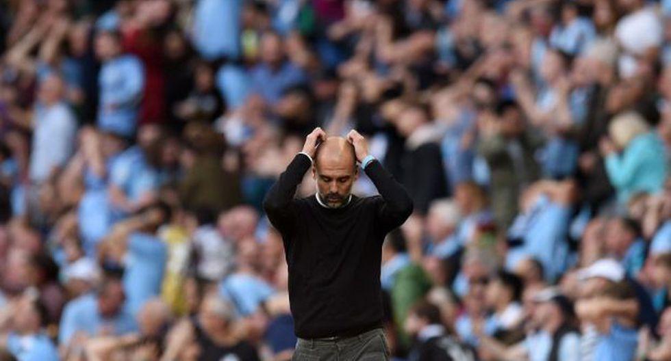 Guardiola aludió a una acción en la que David Silva entró en el área del Bournemouth y chocó con Jefferson Lerma. La jugada fue revisada a través del VAR. (Foto: AFP)