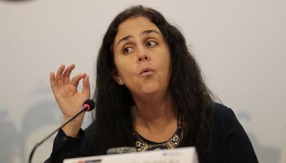 Ministra Patricia García le responde a médicos que piden que deje el cargo. (Luis Centurión)