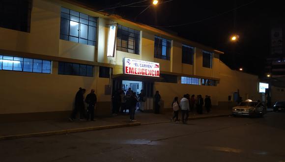 Menores llegaron sin vida al hospital El Carmen. (Junior Meza)