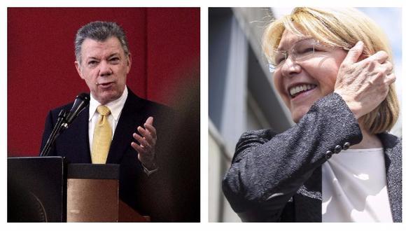 El presidente Juan Manuel Santos anunció que Luisa Ortega recibirá asilo en Colombia si ella lo solicita (Efe).