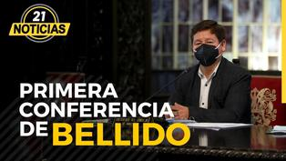 Premier Guido Bellido ofrece su primera conferencia
