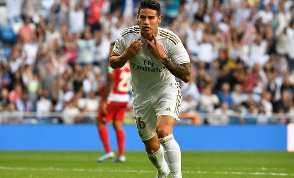 James Rodríguez selló la victoria de Real Madrid sobre Granada. (Foto: AFP)