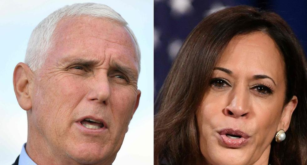 Esta combinación de imágenes de archivo muestra a Mike Pence y Kamala Harris. Ambos se verán las caras esta noche en el único debate televisado entre los candidatos a vicepresidente de Estados Unidos. (AFP / MANDEL NGAN - ERIC BARADAT).