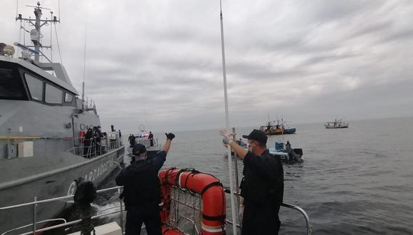 Tumbes: Intervienen a seis naves extranjeras con dos tripulantes infectados de COVID-19. (Foto: Marina de Guerra del Perú)