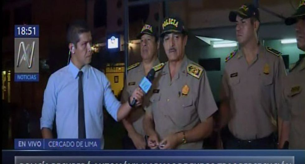 El general PNP Mario Arata, jefe de la Región Policial de Lima, detalló a Canal N que los hampones, quienes merodeaban la agencia bancaria, emprendieron la huida apenas vieron a un patrullero, lo que desató una persecución.