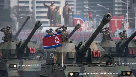 Se prepara un desfile militar en Corea del Norte pese a la pandemia. (Foto: AFP)