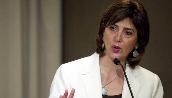 María Ángela Holguín, canciller de Colombia. (AFP)