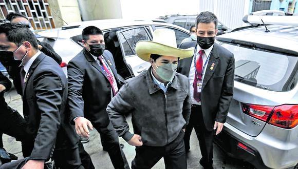 Hermetismo. Castillo evitó dar declaraciones durante sus actividades. (Foto: GEC)