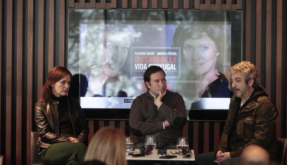 Conferencia de prensa de Andrea Pietra y Ricardo Darín sobre Escenas de la vida conyugal. (Hugo Pérez/GEC)
