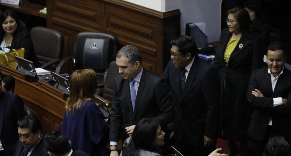 El titular de la PCM también coincidió con la vicepresidenta Mercedes Araoz. (Foto: Anthony Niño de Guzmán / GEC)