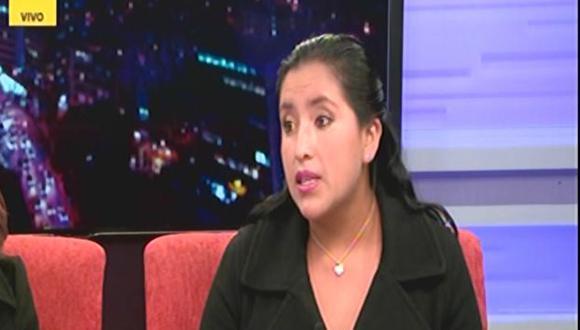 Maybeline Otazú, supuesta víctima de violación.