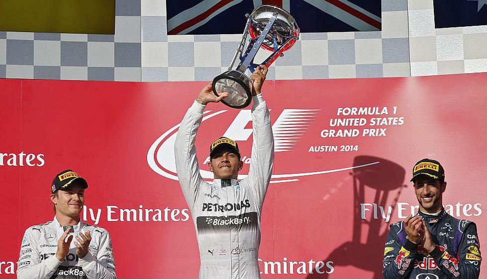 Lewis Hamilton ganó el Gran Premio de Estados Unidos y se acerca más al título del Mundial de Fórmula Uno. (EFE)